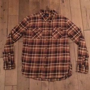 Vans plaid flannel button up size men's XL.